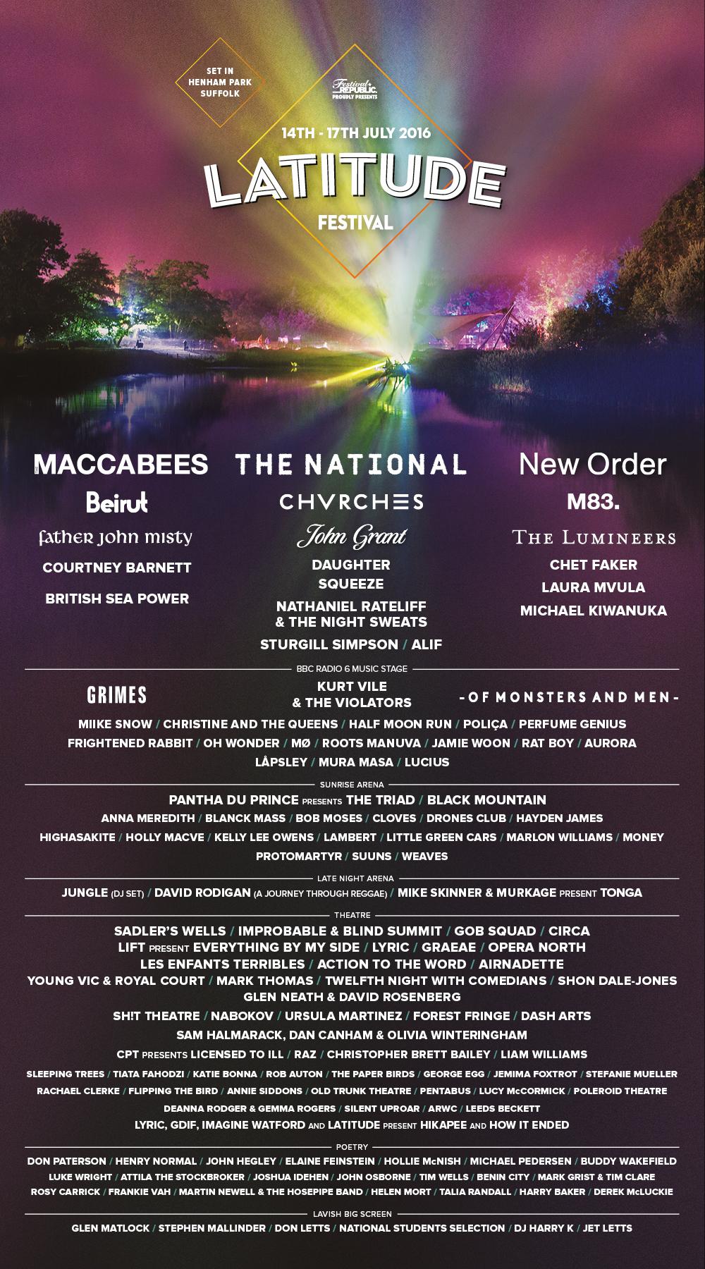 Latitude Festival 2016 Poster