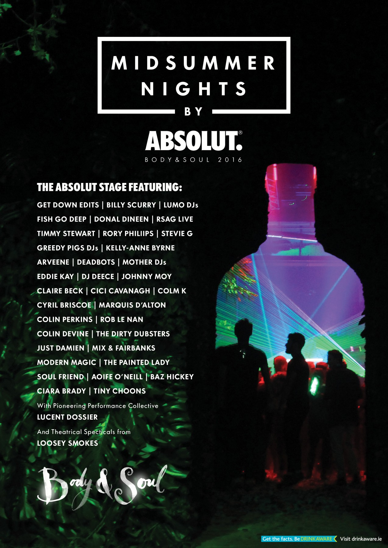 Absolut Body  Soul 2016 Line-Up